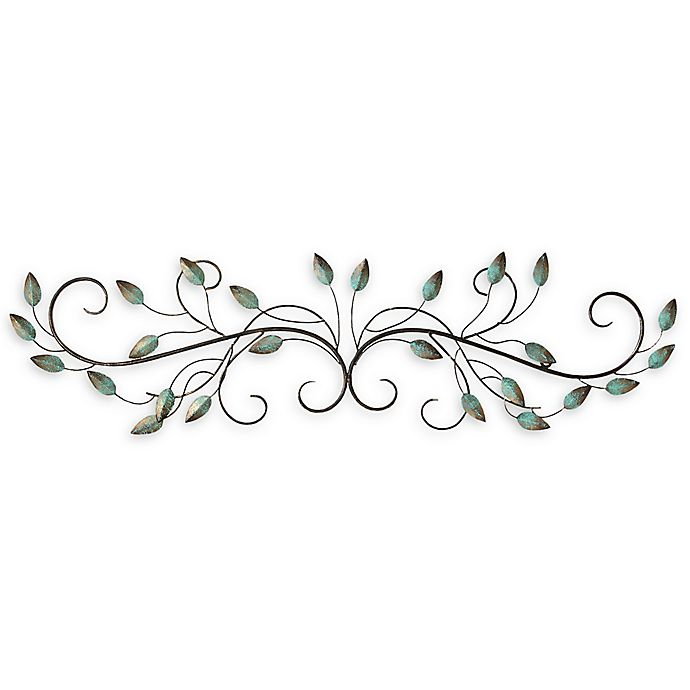 Alternate image 1 for Stratton Home Décor Patina Scroll Leaf Wall Art