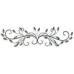 Stratton Home Décor Patina Scroll Leaf Wall Art