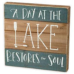 Primitives By Kathy Day At The Lake Box Sign