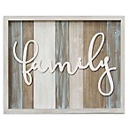 Stratton Home Decor Medium Rustic  Family  Wood Grain Wall Decor