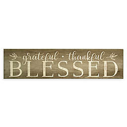"""Stratton Home Décor """"Grateful Thankful Blessed"""" Wood Wall Art"""