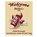 Astra Art Shoes Off 11-Inch x 14-Inch Canvas Wall Art in Yellow