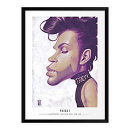 Prince Caricature by Dan Springer 19-Inch x 25-Inch Framed Wall Art