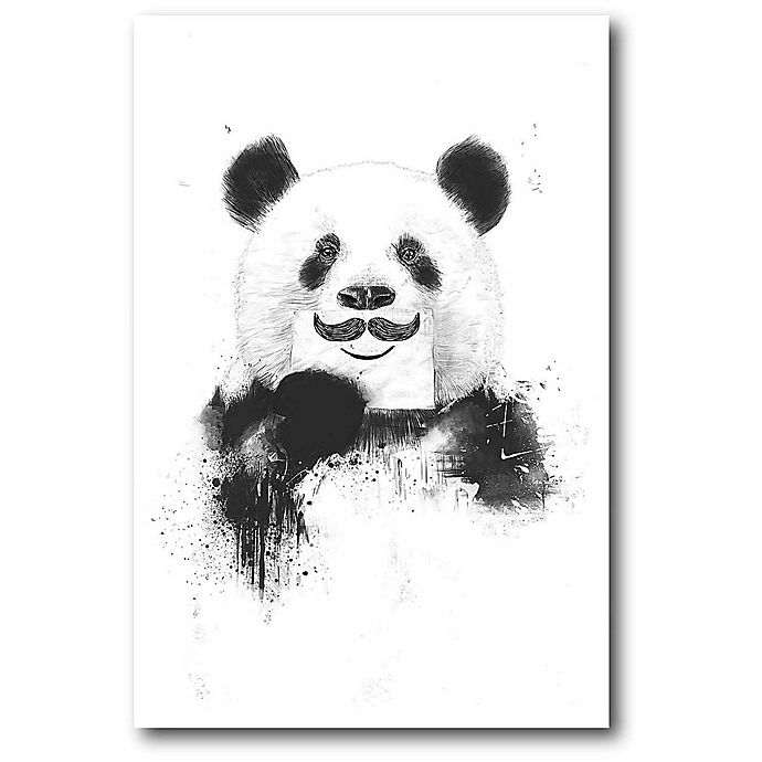 Alternate image 1 for Courtside Market 12-Inch x 18-Inch Funny Panda Canvas Wall Art