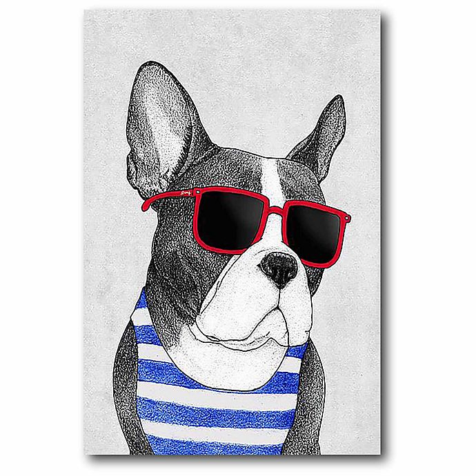 Alternate image 1 for Courtside Market 12-Inch x 18-Inch Frenchie Summer Style Canvas Wall Art