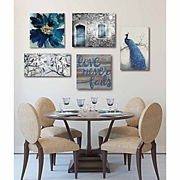Courtside Market 5-Piece Silver & Navy Gallery Canvas Wall Art Set