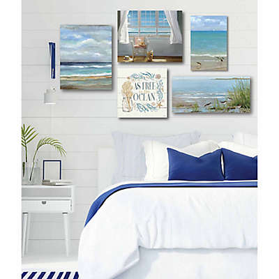 Courtside Market 5-Piece At the Shore Gallery Canvas Wall Art Set