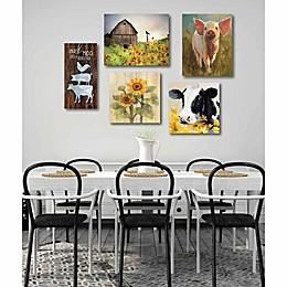 Courtside Market 5-Piece Farm and Sunflower Wall Art Set