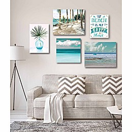 Courtside Market Tropical Tranquility Canvas Wall Art (Set of 5)