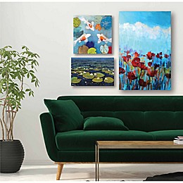 Courtside Market Water Lilies Canvas Wall Art (Set of 3)
