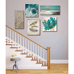 Courtside Market Teal Tranquility Canvas Wall Art (Set of 5)