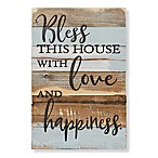 "Sweet Bird & Co. ""Bless This House"" 12-Inch x 18-Inch Wood Wall Art"