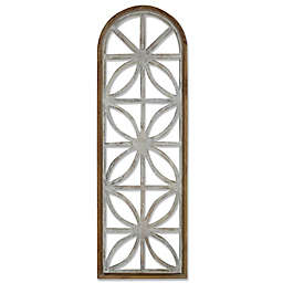 Wooden Window Panel Wall Decor in White