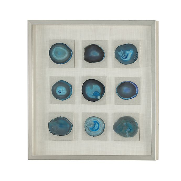 Alternate image 1 for Uttermost Cerulean Blue Stone Shadow Box 31-Inch Square Framed Wall Art