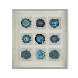 Uttermost Cerulean Blue Stone Shadow Box 31-Inch Square Framed Wall Art