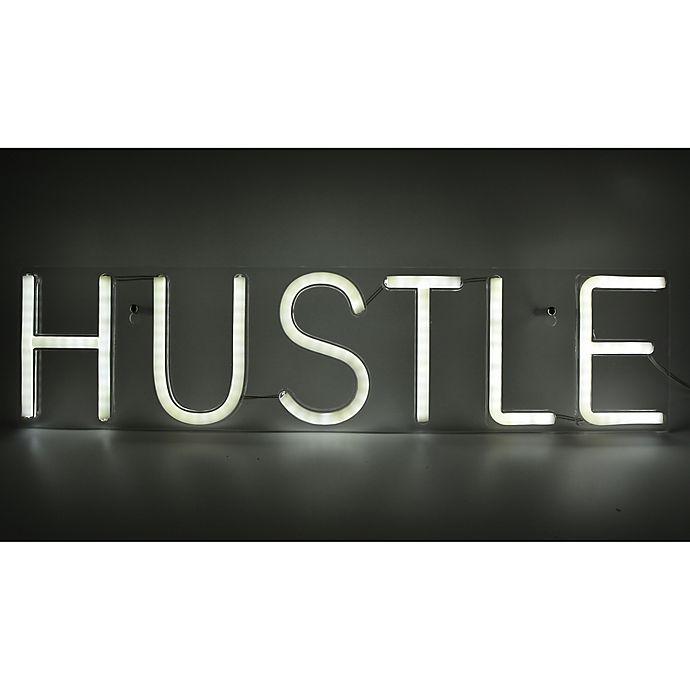 Alternate image 1 for Neon Hustle Sign in White