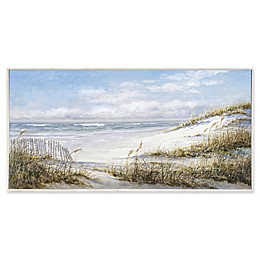 Portfolio Arts Group Beach Fence 58-Inch x 29-Inch Canvas Wall Art
