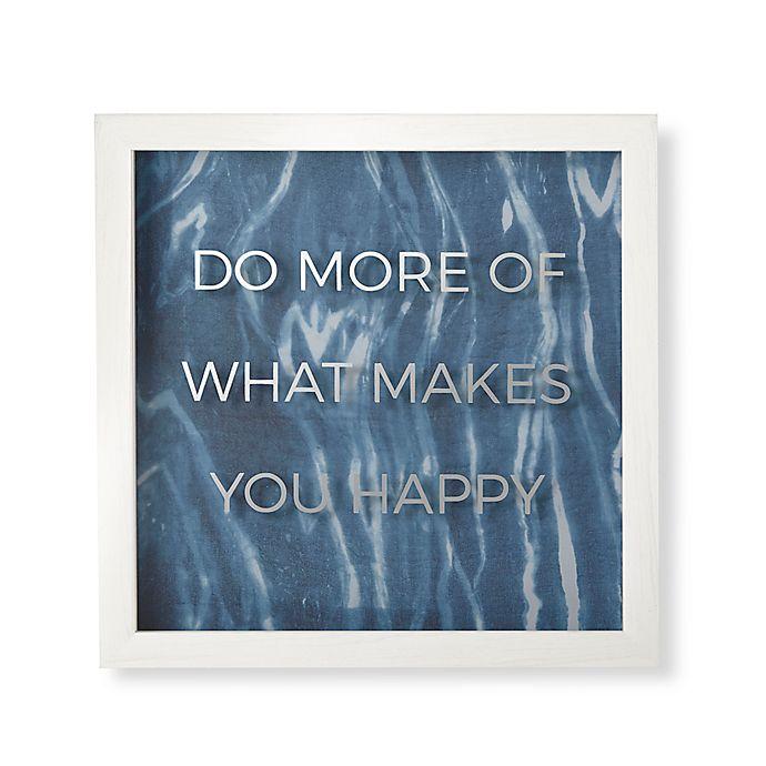 Alternate image 1 for Umbra® Do More Wall Art in White Wash Frame