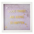 Umbra® Good Things Wall Art in White Wash Frame