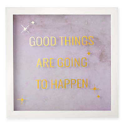 Umbra® Good Things Wall Art in White Wash Frame