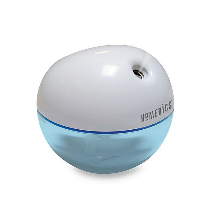 Alternate image 1 for HoMedics® Personal Ultrasonic Humidifier in Blue/White