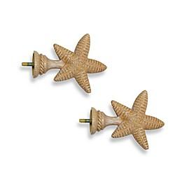 Cambria® Complete Matte Starfish Finials (Set of 2)