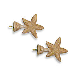 Cambria® Complete Matte Starfish Finials (Set of 2)