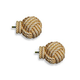 Cambria® Complete Matte Knotical Finials (Set of 2)