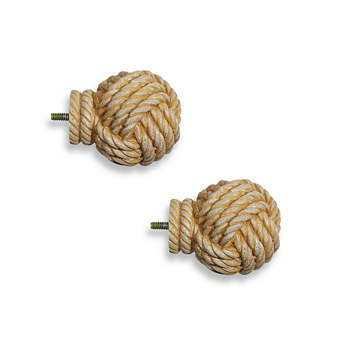 Alternate image 1 for Cambria® Complete Matte Knotical Finials (Set of 2)