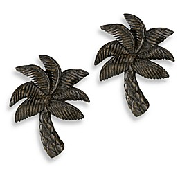 Cambria® Complete Matte Brown Palm Finials (Set of 2)