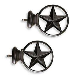 Cambria® Complete Bronze Texas Star Finials (Set of 2)