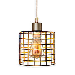 Fangio Lighting Cory Martin Basket Cage Pendant in Antique Silver