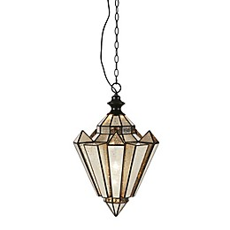 Madison Park Signature Estela 1-Light Pendant in Black with Mercury Glass Shade