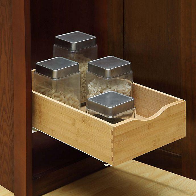 Under Cabinet Drawers: Hardwood Under Cabinet Drawer