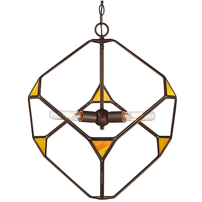 Alternate image 1 for Rogue Décor Cubert 3-Light Pendant Light in Rustic Bronze