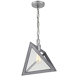Rogue Decor Company Overrule Ceiling-Mount Triangle Pendant in Silver