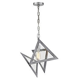 Rogue Decor Company Overrule Ceiling-Mount Abstract Pendant in Silver