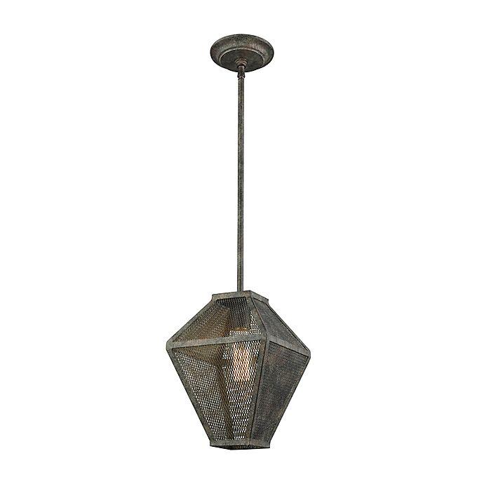 Alternate image 1 for ELK Lighting Salisbury 1-Light Pendant in Malted Rust