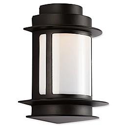 Bel Air Bridgette 11-Inch Outdoor Wall Lantern in Black