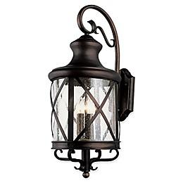 Bel Air Lighting Chandler 1-Light Wall Lantern in Rubbed Oil Bronze