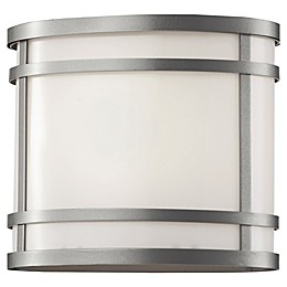 Bel Air Lighting Zephyr 1-Light 8.25-Inch Outdoor Wall Lantern with Frosted Glass Shade