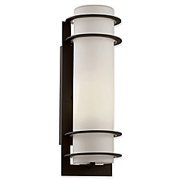 Bel Air Lighting Zephyr 1-Light 16.25-Inch Outdoor Wall Lantern with Frosted Glass Shade