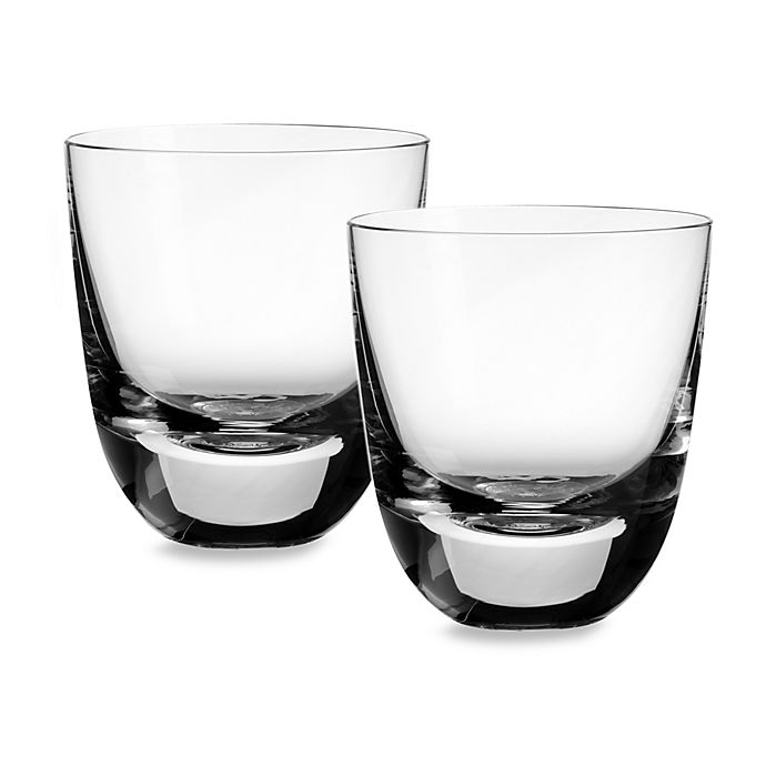 Alternate image 1 for Villeroy & Boch American Bar 4 1/2-Inch Straight Bourbon Double Old Fashioned Tumbler (Set of 2)