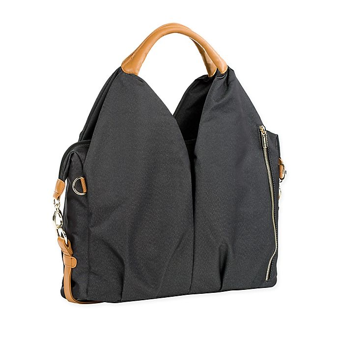 Alternate image 1 for Lassig Green Label Neckline Diaper Bag in Black