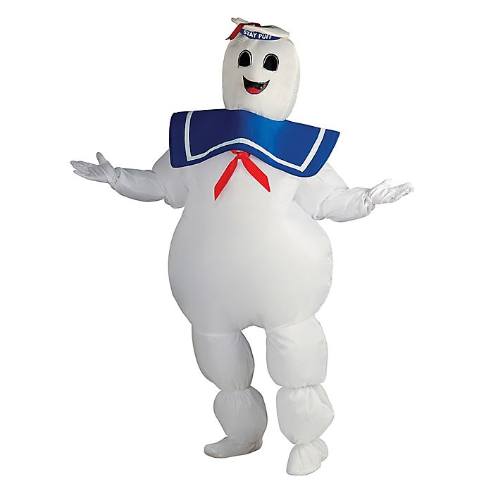 Alternate image 1 for Ghostbusters Marshmallow Man Inflatable One-Size Adult Halloween Costume