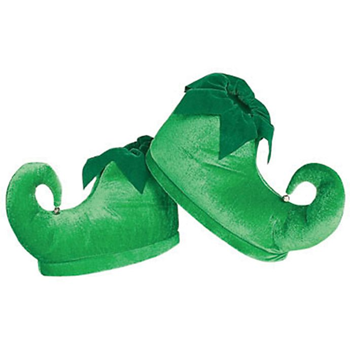 Alternate image 1 for One Size Deluxe Adult Elf Shoes in Green