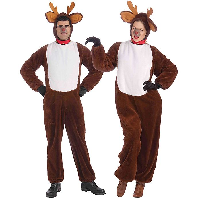 Alternate image 1 for One Size Reindeer Adult Costume