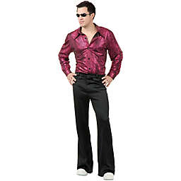 Adult Men's Disco Shirt in Liquid Red and Black
