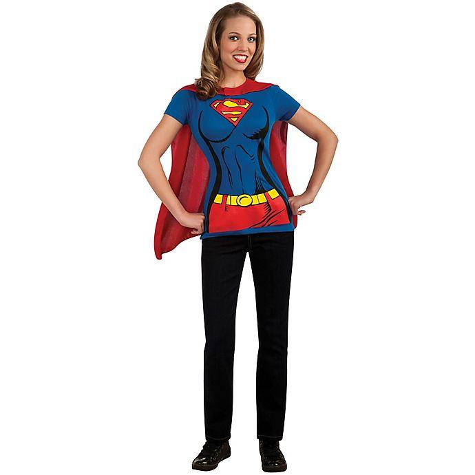 Alternate image 1 for Supergirl Adult Women's T-Shirt Halloween Costume Kit