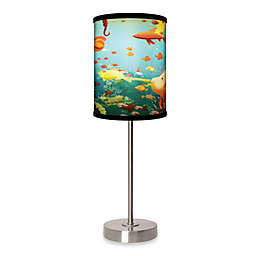 Aquarium Table Lamp with Brushed Nickel Base
